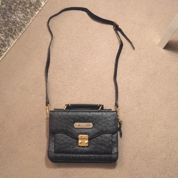 ba56a2ed5d82 Marinal Italy ostrich print purse. M 5c23c74da31c33b099a120d0
